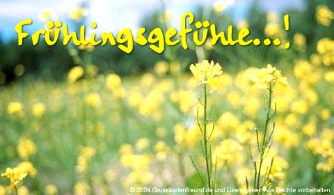 Frühlingsgefühle...!