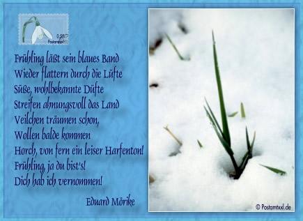 """""""Frühling lässt sein blaues Band wieder flattern durch die Lüfte. Süße, wohlbekannte Düfte streifen ahnungsvoll das..."""