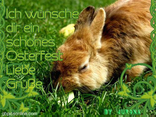 Ich wünsche dir ein schönes Osterfest...
