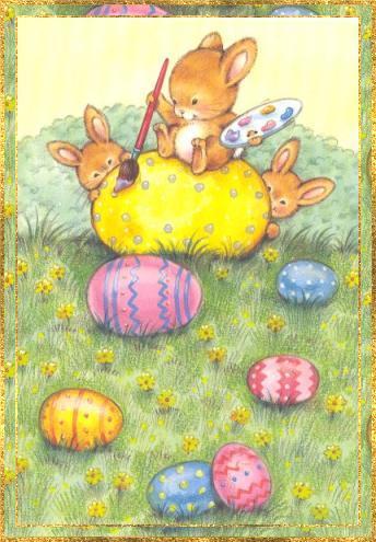 Gemälde eines Eier...