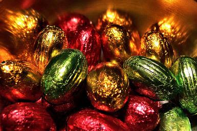 Schokoladeneier in...