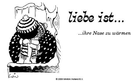 Liebe ist... ihre Nase zu wärmen