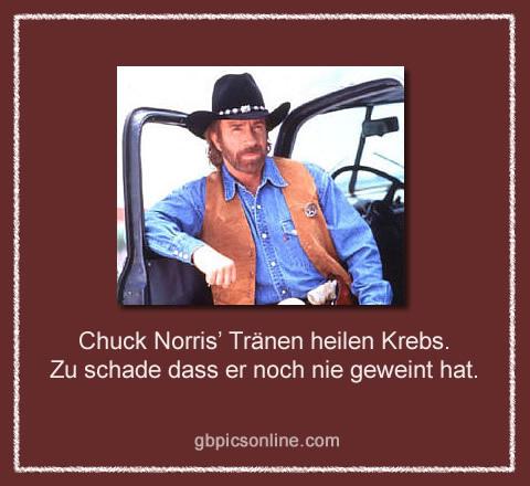 Chuck Norris' Tränen heilen Krebs. Zu schade dass er noch nie geweint hat.