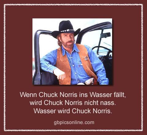 Wenn Chuck Norris ins Wasser...