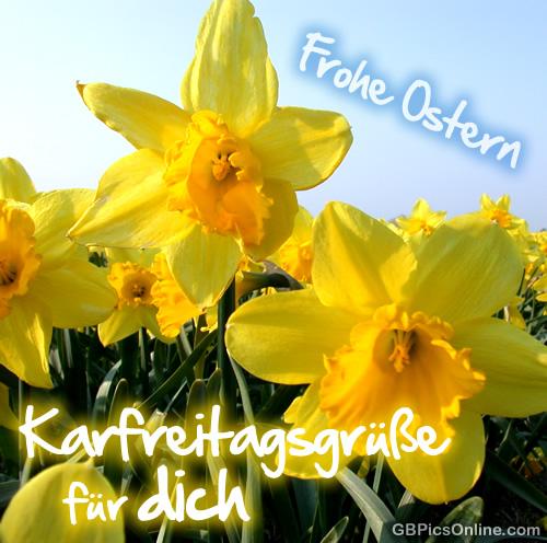 Frohe Ostern. Karfreitagsgrüße für...