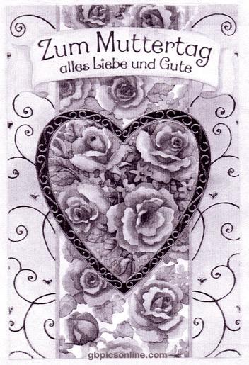 Zum Muttertag alles Liebe und...