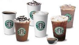 Auswahl von Starbucks