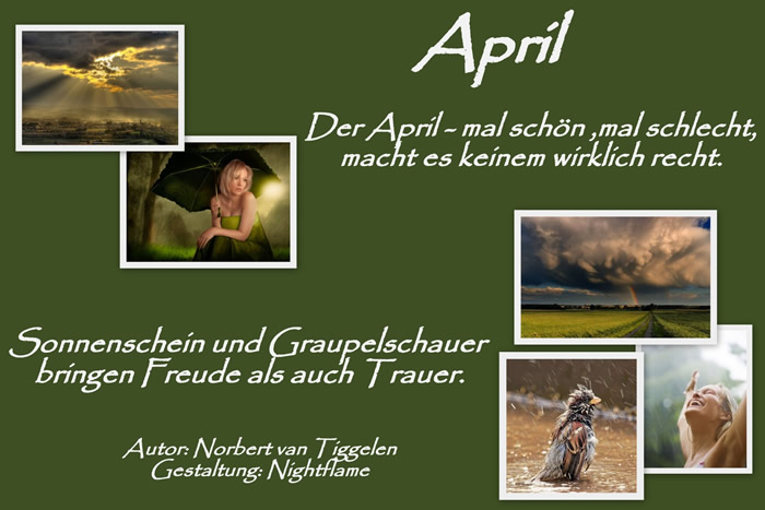 April. Der April- mal schön, mal...