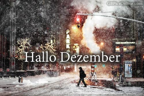 Hallo Dezember.