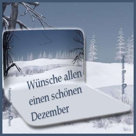 Wünsche allen einen schönen Dezember.