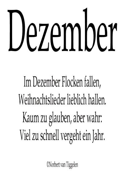 Dezember. Im Dezember Flocken...