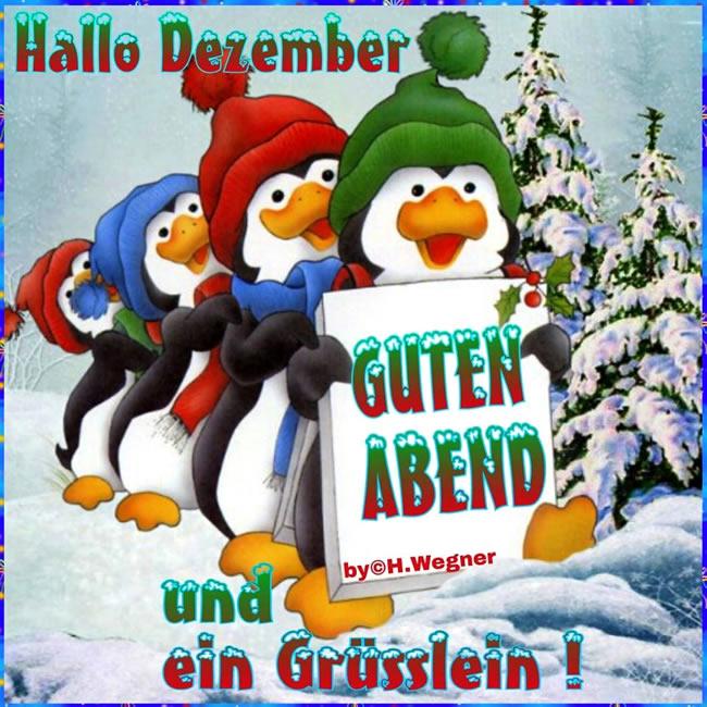 Hallo Dezember. Guten Abend...
