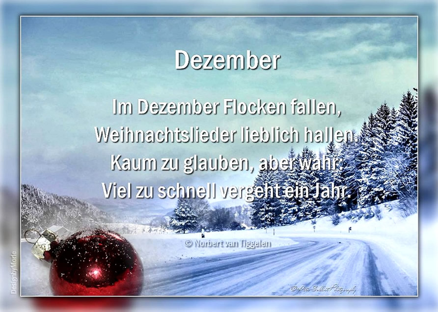 Dezember. Im Dezember Flocken fallen...