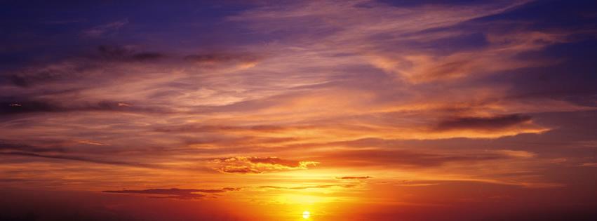 Phänomenaler Sonnenuntergang