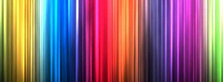 Farbenspekrum in Streifen