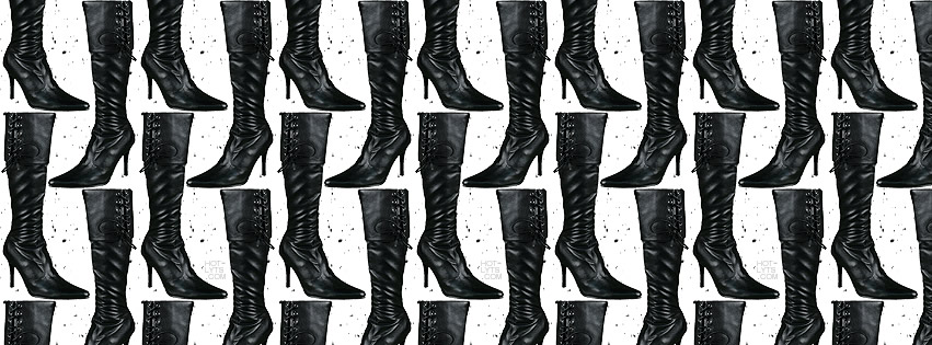 Lederstiefel-Collage
