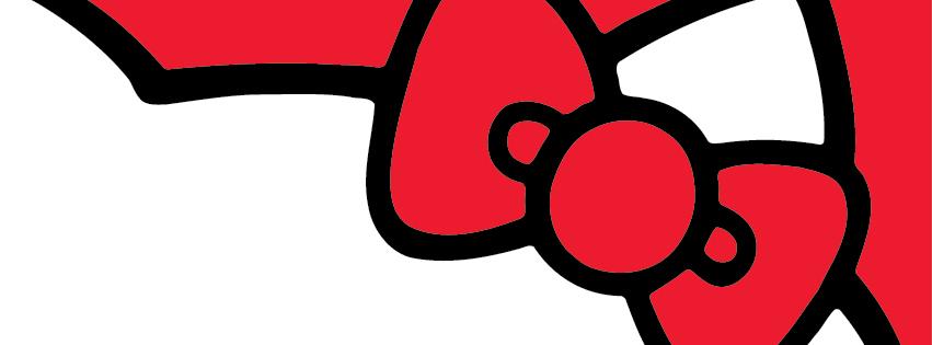 """Rote Schleife von """"Hello-Kitty"""""""