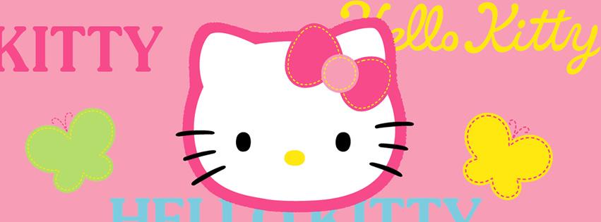 """""""Hellot Kitty"""" und zwei Schmetterlinge"""
