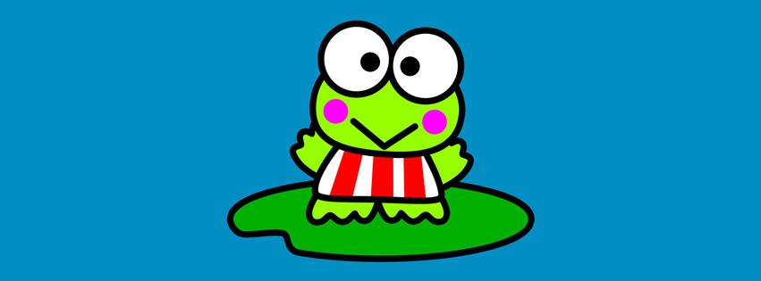 Niedlicher Cartoon-Frosch