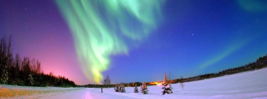 Aufnahme der Polarlichter