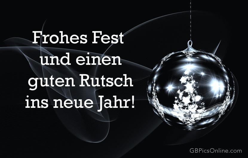Frohes Fest und einen guten...