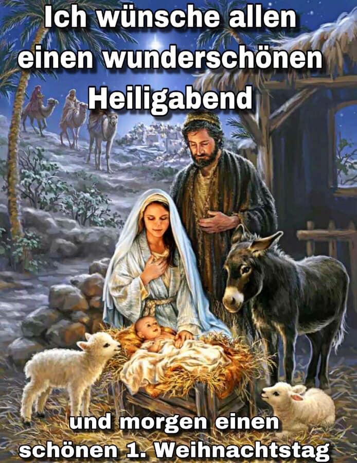 Ich wünsche allen einen wunderschönen Heiligabend und morgen einen schönen 1. Weihnachtstag
