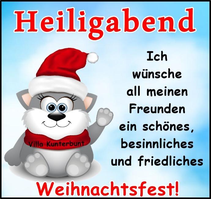Heiligabend. Ich wünsche all meinen Freunden ein schönes, besinnliches und friedliches Weihnachtsfest!