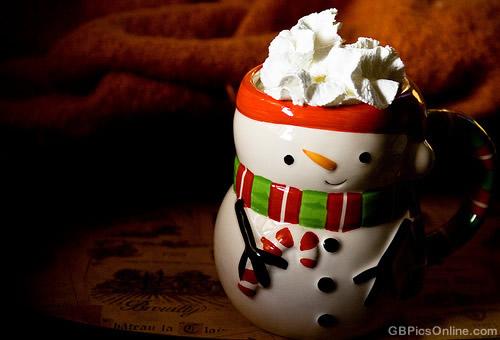 Heiße Schokolade in süßer...