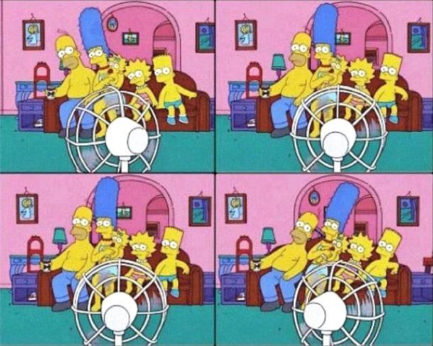 Die Simpsons brauchen eine Abkühlung