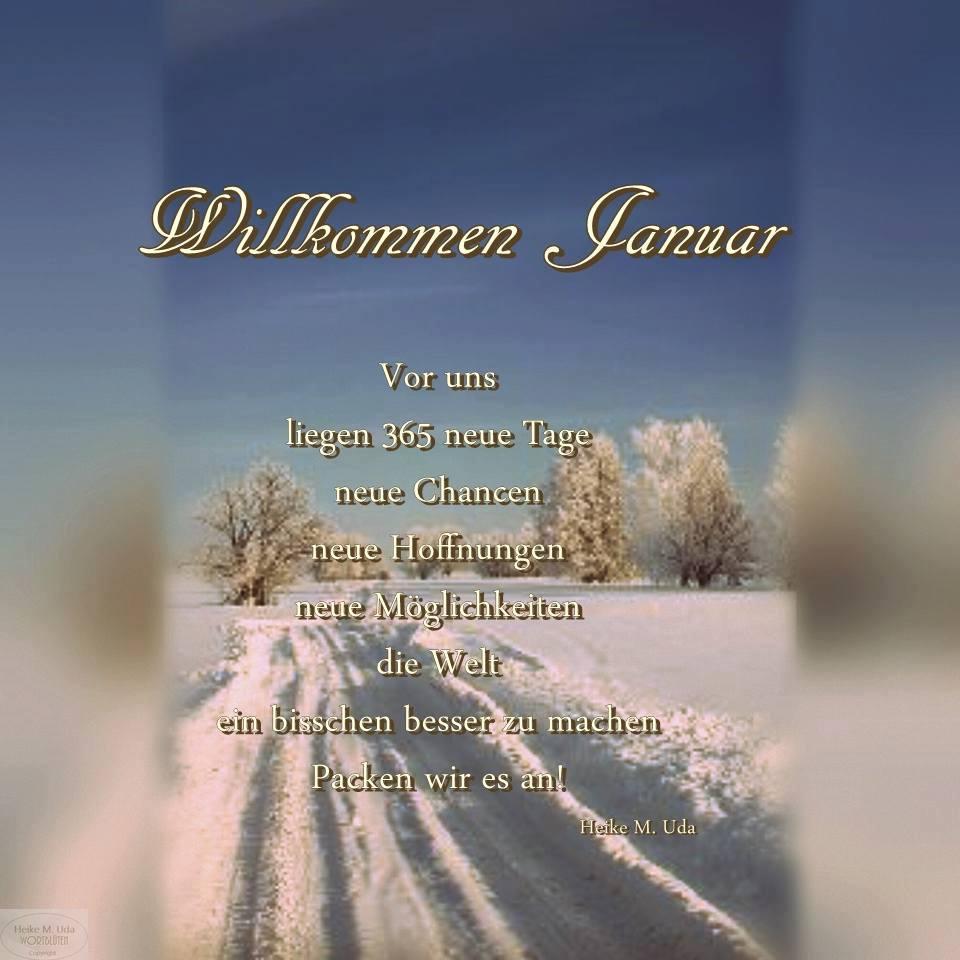 """""""Willkommen Januar. Vor..."""