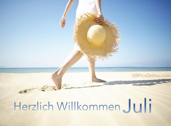 Herzliche Willkommen Juli