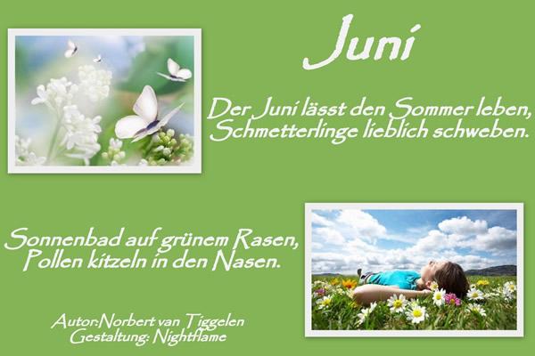 Juni. Der Juni lässt den Sommer leben...