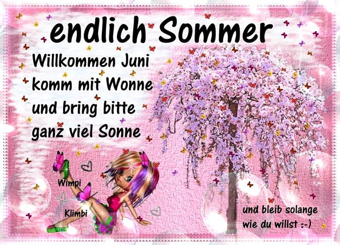 Endlich Sommer. Willkommen Juni. Komm mit Wonne und bring bitte ganz viel Sonne und bleib solange, wie du willst :-)