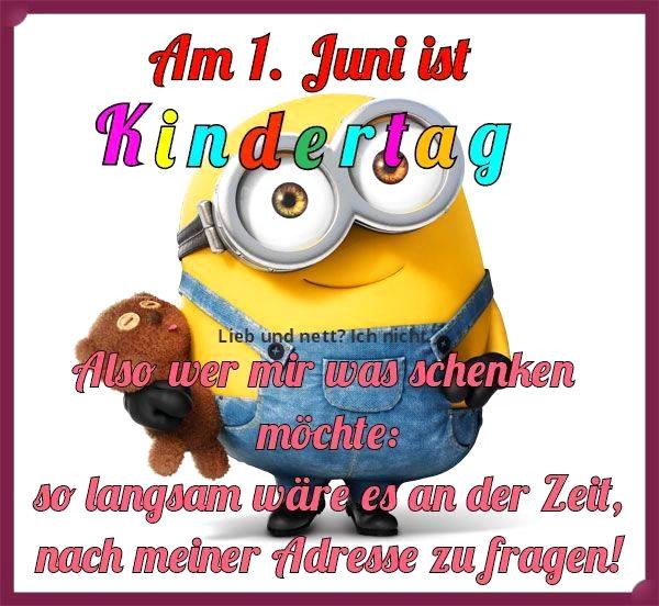 Am 1. Juni ist Kindertag Also...