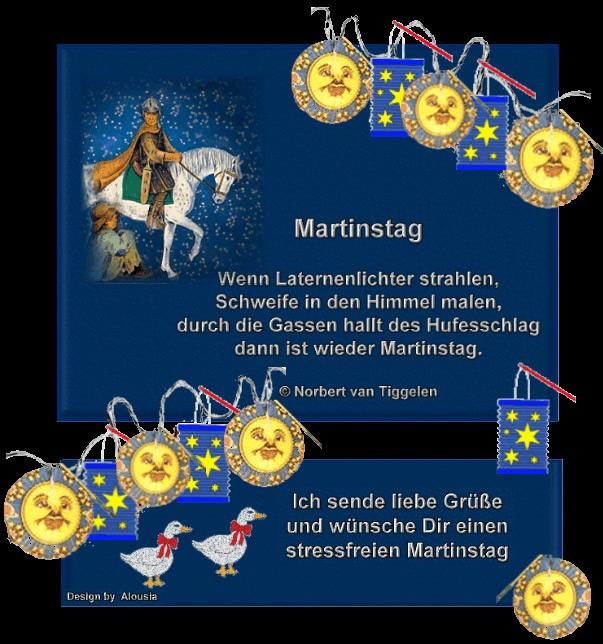 Martinstag - Wenn Laternenlichter...