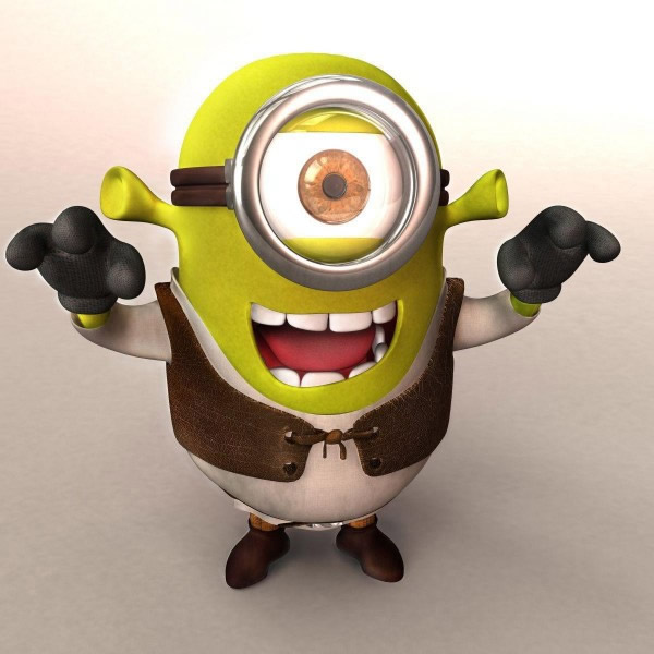 Minion in Shrek-Kostüm