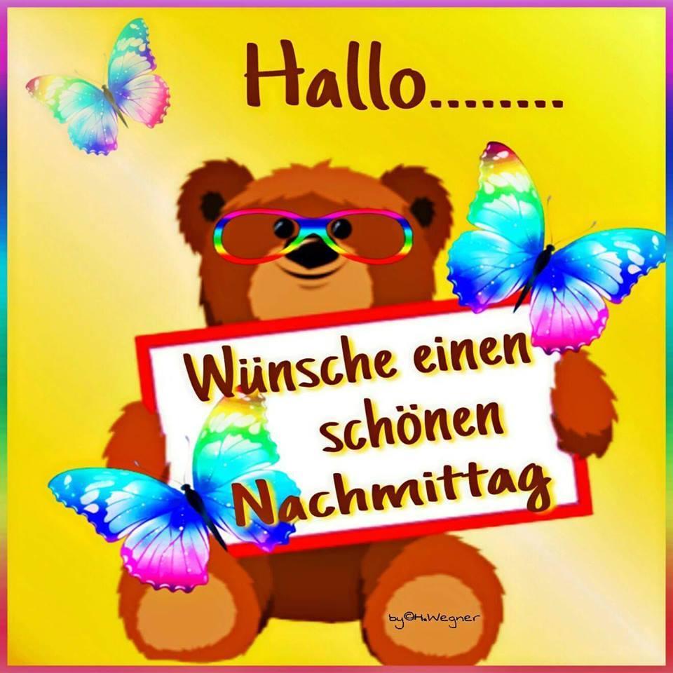 Hallo... Wünsche einen schönen Nachmittag.