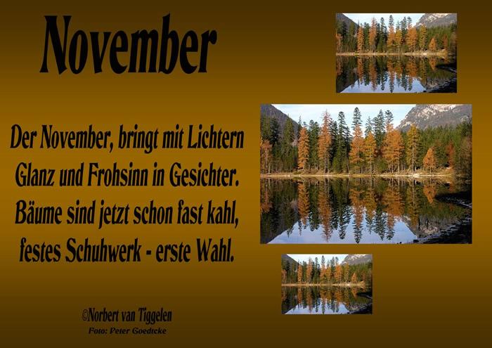 November. Der November, bringt...