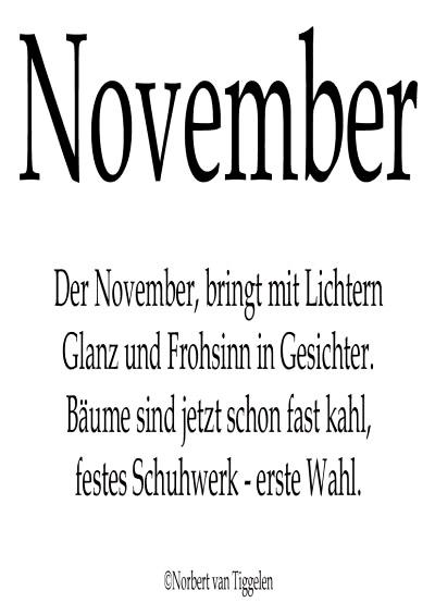 November. Der November, bringt mit Lichtern Glanz und