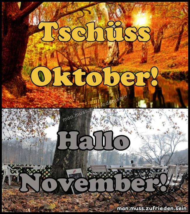Tschüss Oktober! Hallo...