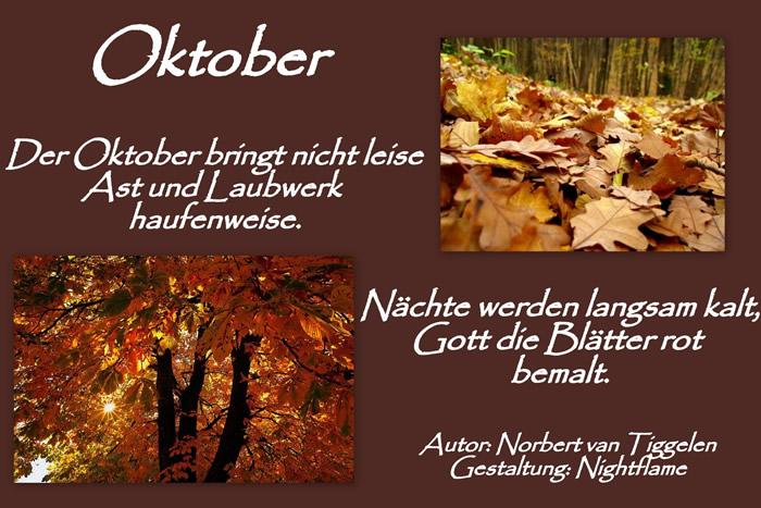 Oktober. Der Oktober bringt...