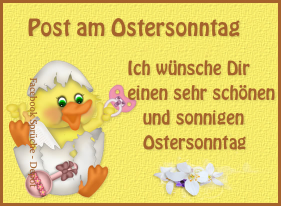 Post am Ostersonntag - Ich...