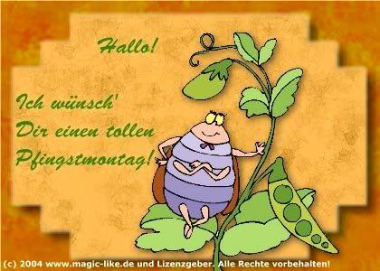 Hallo! Ich wünsch' Dir einen tollen Pfingstmontag!