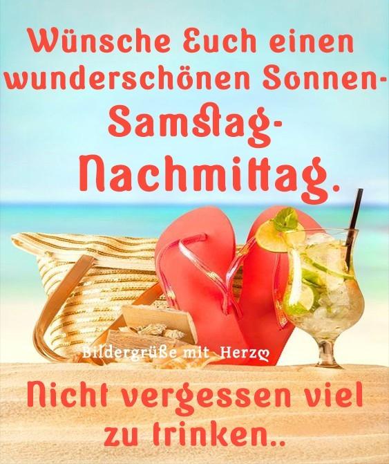 Wünsche Euch einen wunderschönen Sonnen-Samstag-Nachmittag. Nicht vergessen viel zu trinken...