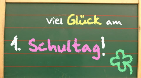 Viel Glück Am 1 Schultag Schulanfang Bild 23392