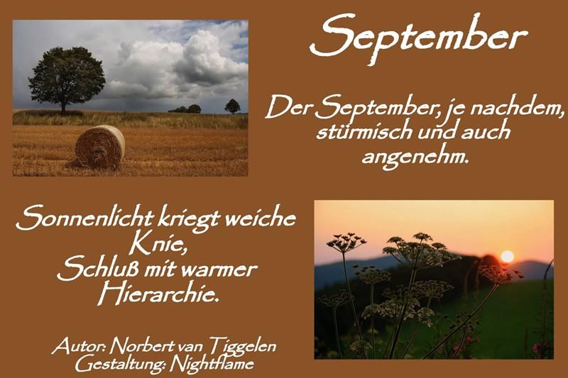 September. Der September, je...