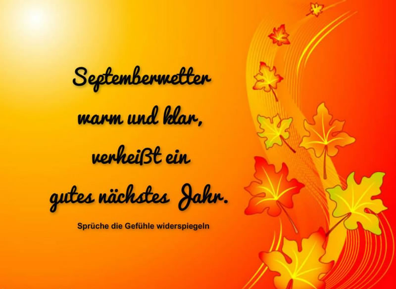 Septemberwetter warm und klar...