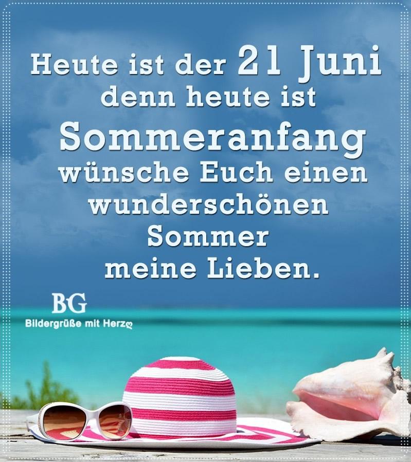 Heute ist der 21. Juni, denn heute ist...