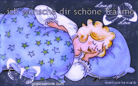 Ich wünsche dir schöne Träume.