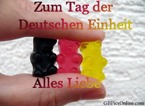 Zum Tag der deutschen Einheit alles Liebe.